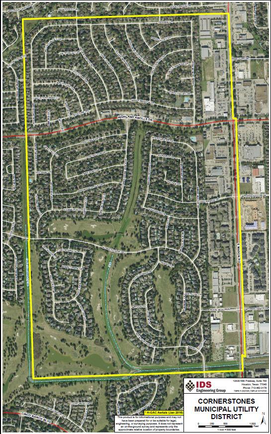 About Cornerstones Municipal Utility District